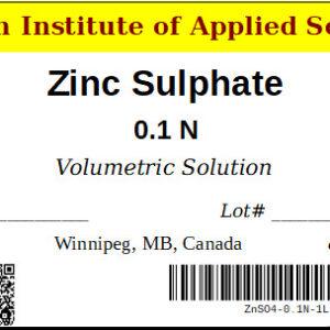 Zinc Sulphate Label